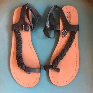 Cute braided sandals. Worn once.